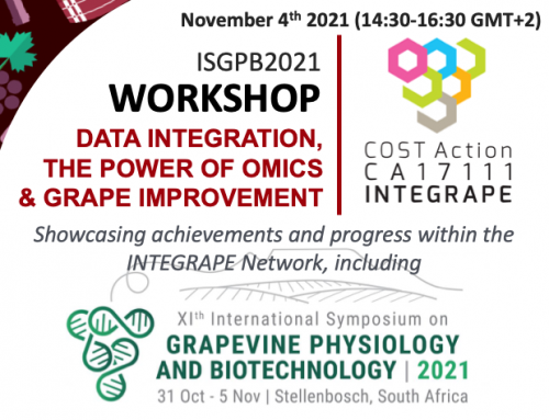 INTEGRAPE will present its objectives and results at the Stellenbosch online ISGPB2021 Symposium.